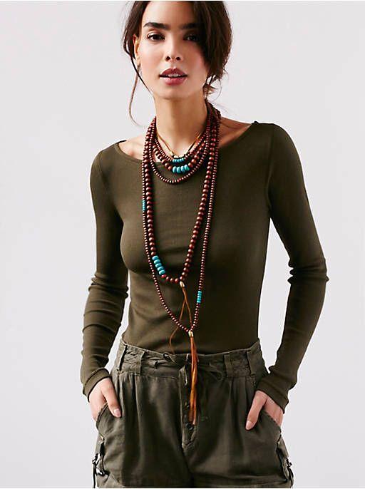 Free People Tibetan Sunrise Necklace, $48.00                                                                                                                                                      More