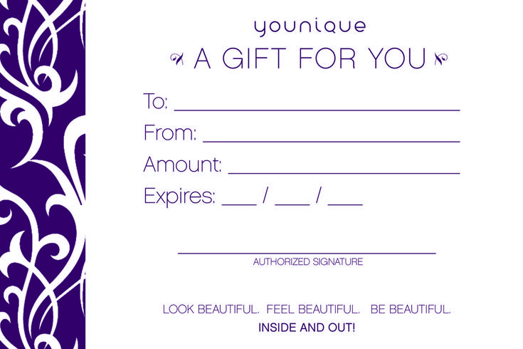"""Gift Certificates in any amount ! 