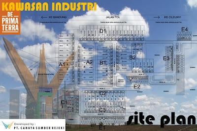 Site plan kawasan industri dan pergudangan
