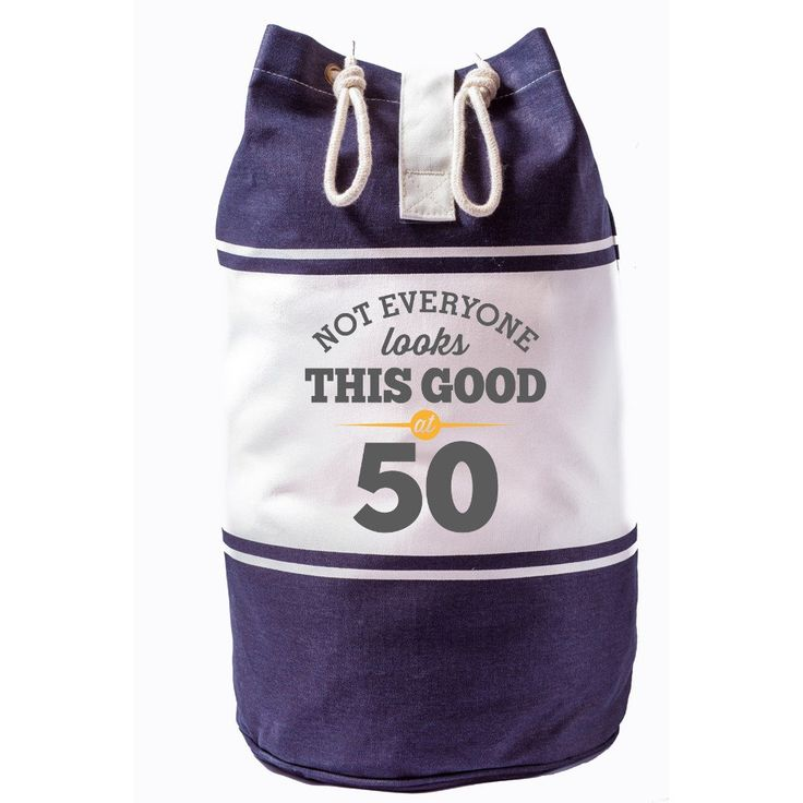 Not Everone Looks this good at 50, Birthday Bag, 50th Birthday, Gift, Keepsake, Funny Gift, Gift For Men, Gift For Women, Novelty Gift, Ladies Gifts, Female Birthday Gift, Male Birthday Gift Idea, Quadra Canvas Duffle Bag