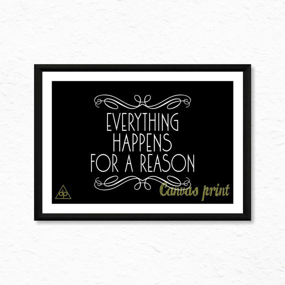 Canvas Printed Motivational Quote 'Everything by decalplaza, $17.99