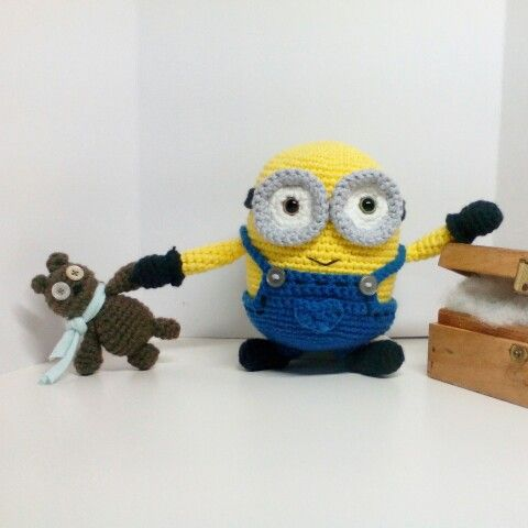 Free Crochet Pattern For Bob The Minion : Minion Bob with Tim! Made by alisgurumi. Free pattern by ...