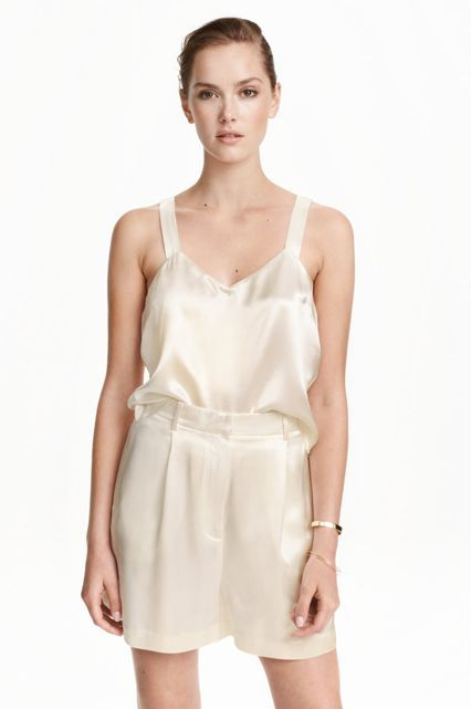 """H&M Hidden deep in H&M's drop-down menu is a little section called """"Trend"""" that is about to dazzle you with its spot-on selection of the most fashion-forward pieces you've ever bought for $69.95. Think luxe-looking work pieces, on-trend bodysuits, silky culottes, and dozens of other things no one will believe you got at a mall store.  Pro-tip: The Trend section exists in stores, too — most often it's located right by the main entrance to attract passersby."""