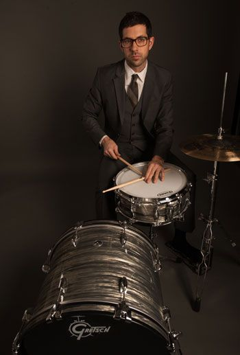 Mark photoshoot with Gretsch Drums and Sabian