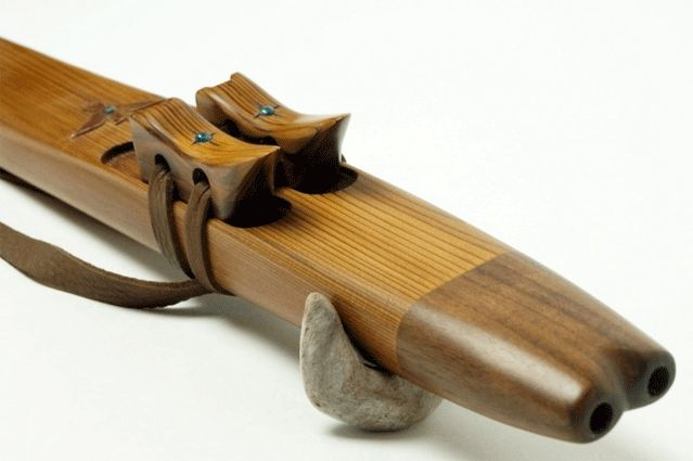 Hand carved Mayan temple flute.  Made from New Zealand native timber from an artisan who was apprenticed by two Native American master flute makers