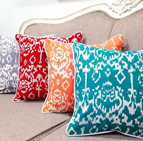 Colorful Batik Cushions by Tan Living.