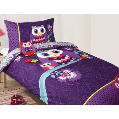 Night Owl Quilt Cover Set  - Single