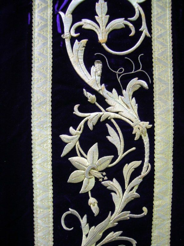 Antique chasuble - detail (of a priest's vestments).   (original pinner's collection)