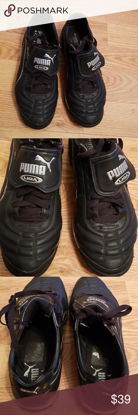 Puma liga TURF sneakers Black PUMA Liga turf shoes/ sneakers. Only worn a few times in field hockey games! Smoke free pet free home Puma Shoes Sneakers