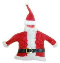 Noel Baba, Şişe Giysisi Şampanya veya şarap şişesi giysisi. Lastikli noel baba şapkası ve kemerli noel baba ceketinden oluşur. Yılbaşı hediyesi olarak da idealdir. Sitemizden yılbaşı hediye torbası da alarak hediyenizi daha da şık hale getirebilirsiniz.
