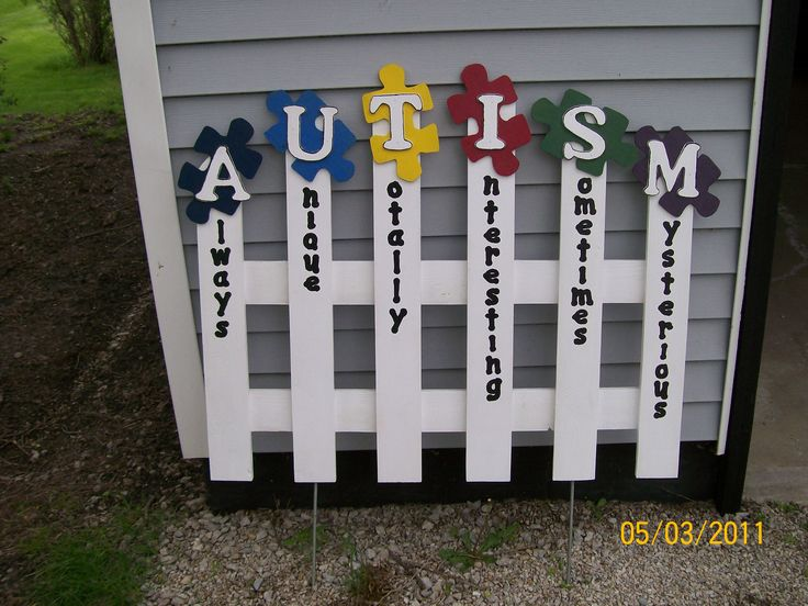 How cool is this autism fence!