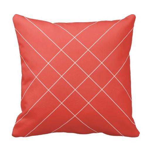 Crossed Stripes Print - Rose Hips Colour