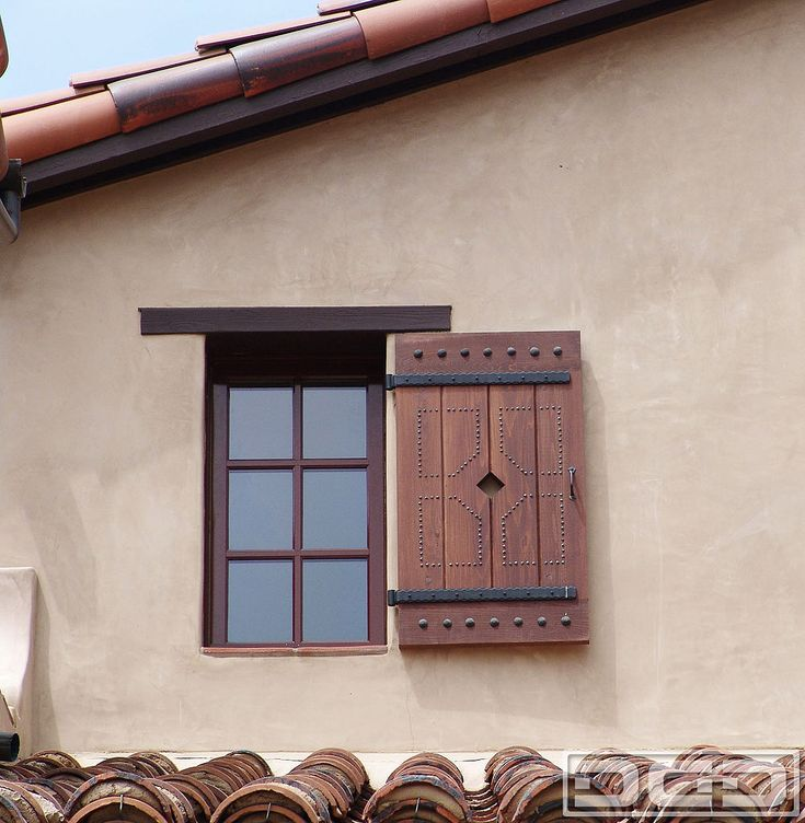 45 best tuscan shutters images on pinterest exterior for Spanish style interior shutters