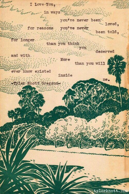 Tyler Knott Gregson. Typewriter Series. ♡ - grossly relevant