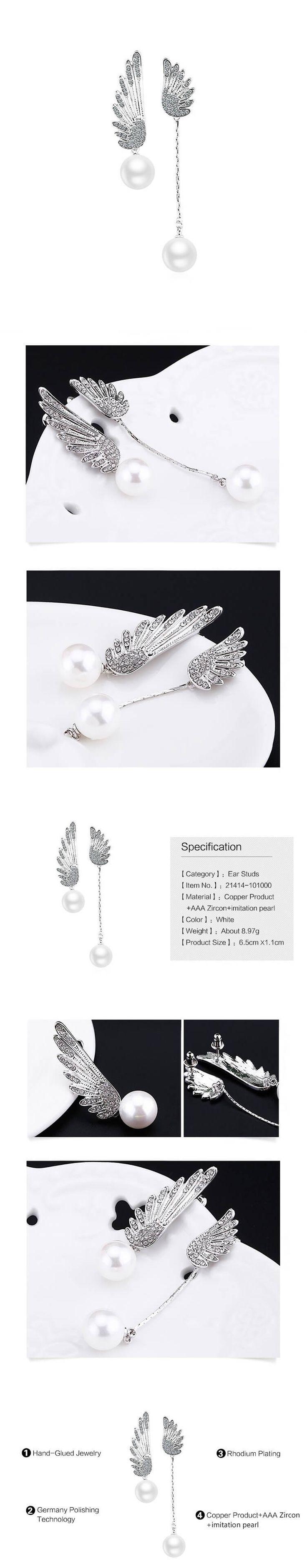 Angyal szárny alakú női divat fülbevaló