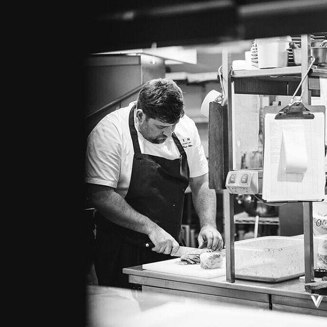 The master at work!  #vinedoublebay #vine #doublebay #restaurant #sydney #food #wine #chefsofinstagram #chefdrewbolton