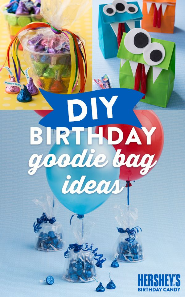 Make your kid's birthday the sweetest celebration ever with these adorable HERSHEY'S DIY Goodie Bag ideas. For the little monsters in your life, there's also the DIY TWIZZLERS Monster Goodie Bag—super-easy to make and a guaranteed hit! Keep the partygoers smiling with these KISS-ational balloon party favors. Let's Birthday!