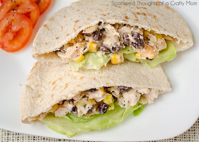 Black Bean and Corn Chicken Salad. Great for lunch or a summer night dinner.