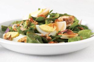 Bacon Spinach Salad recipe. We had this for dinner tonight, and it was excellent!