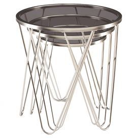 Bring Chic Style To Any Room With These Eye Catching Nesting Tables.  Showcasing Hairpin