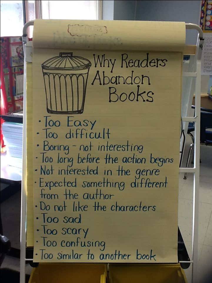 Reader's workshop-why you might abandon a book
