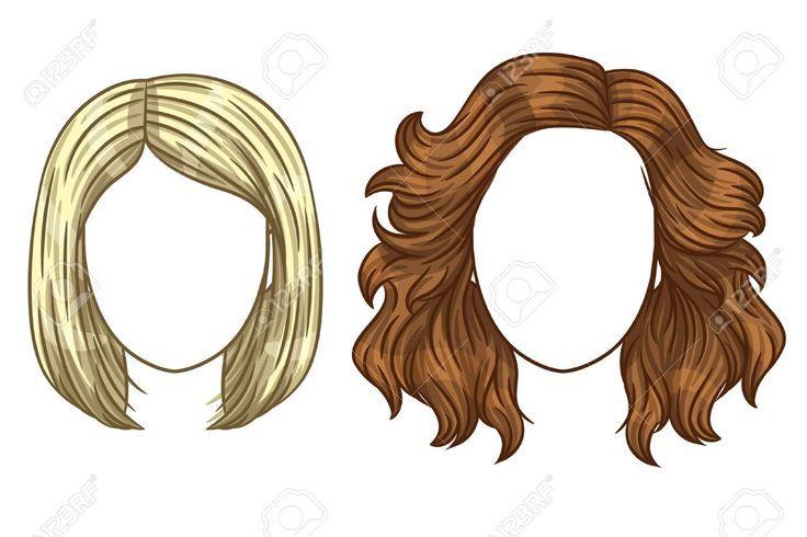 Vector Vrouwen Kapsel Modieuze Haarstijlen Voor Dames Verschillende Soorten Haar