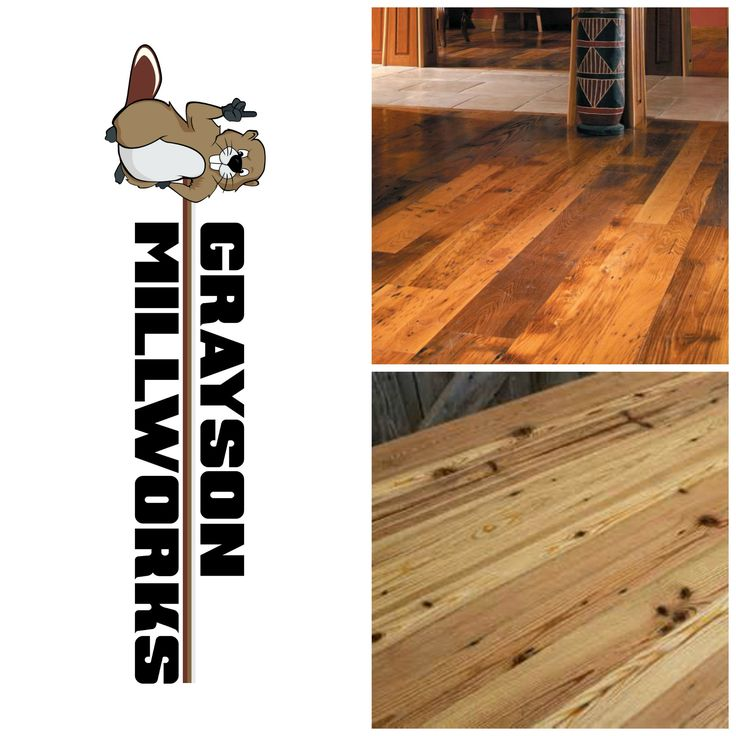 Beautiful reclaimed wood flooring for the home. Visit graysonmillworks.com. Rustic flooring is trending............