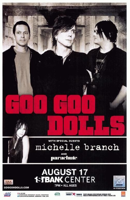 Concert poster for The Goo Goo Dolls at The First Bank Center in Broomfield, CO in 2011. 11 x 17 inches on card stock.