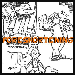 how to draw foreshortening figures