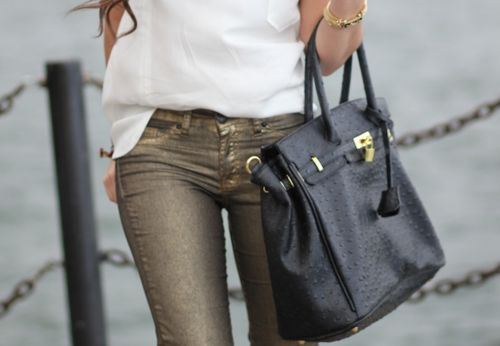 i love these gold wash jeans!