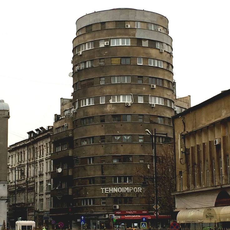 Brutalism in Bucharest, 2014 Tehnoimport Tower, designed in 1935 by architect H. Stern