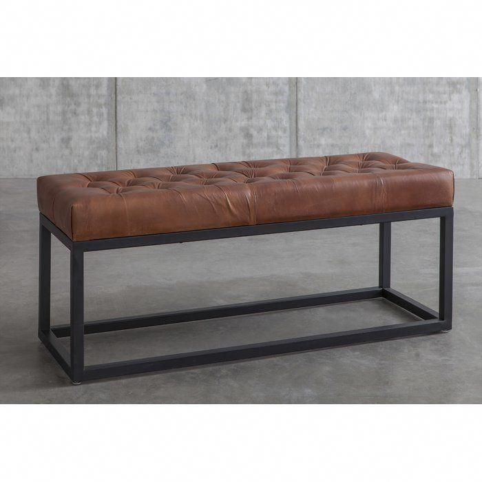 Adelinda Metal And Leather Bench Industriallivingroom In 2020 Luxury Furniture Furniture Leather Bench