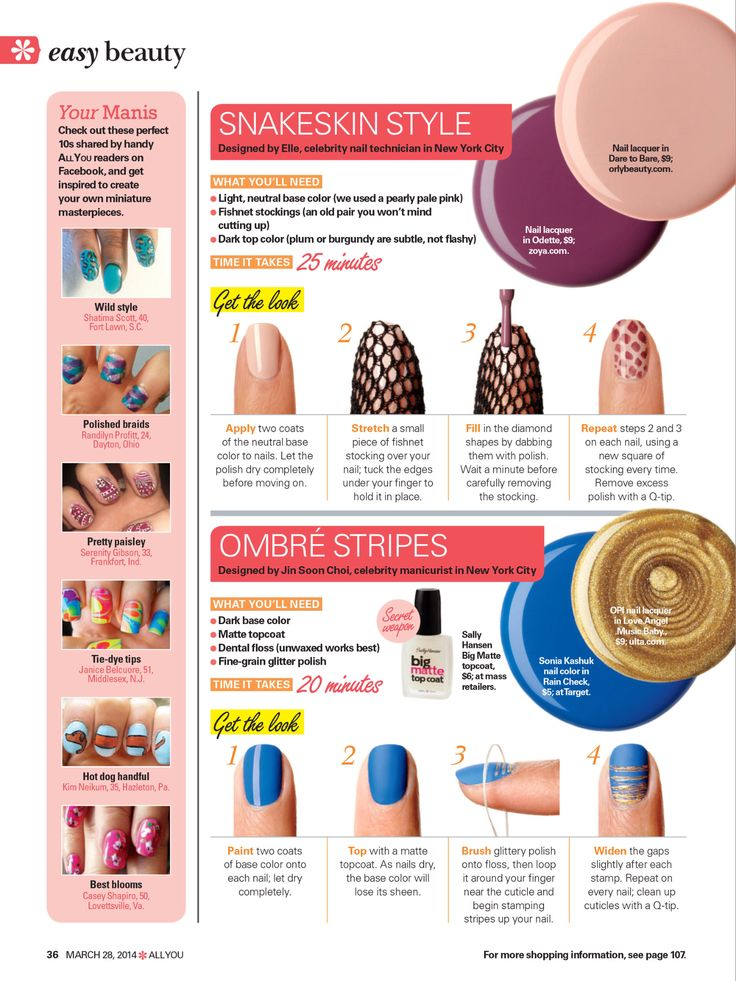 Nail art idea from All You magazine