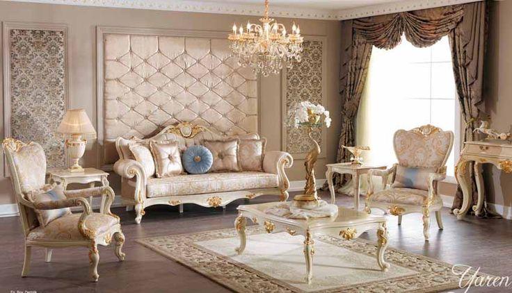 Dalyan Lüks Klasik Koltuk Takımı #Koltuk #Moda #Dekorasyon #Decoration #Home #SofaSet #LivingRoom #Mobilya #Furniture