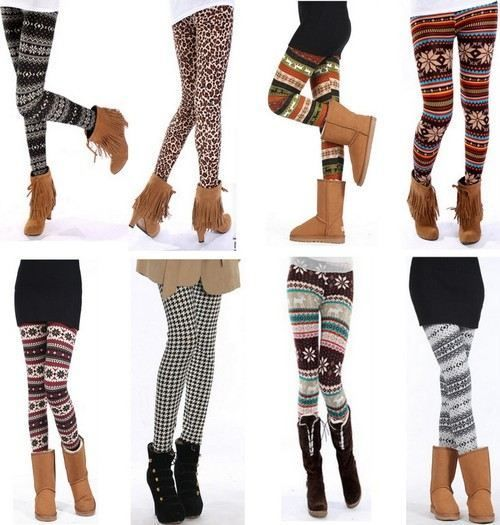 """sweater legs are always screaming """"I need ankle high boots to match me!"""" personal favorite sweater leg & ankle high boot combo: animal print tights with leather materialed ankle high boots."""