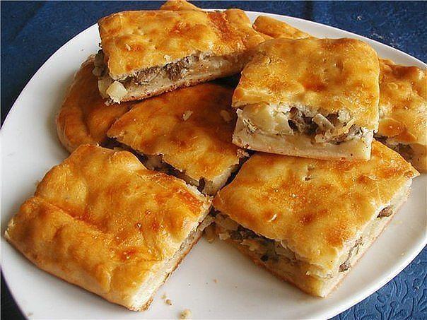 Вкусный картофельный пирог с курочкой.