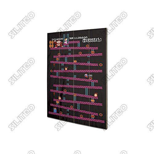 Nintendo tableau bois Donkey Kong 40 x 60 cm