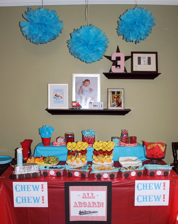 Railroad Train Themed Birthday Party For 3 Year Old Boy Http EmilyLongDesi