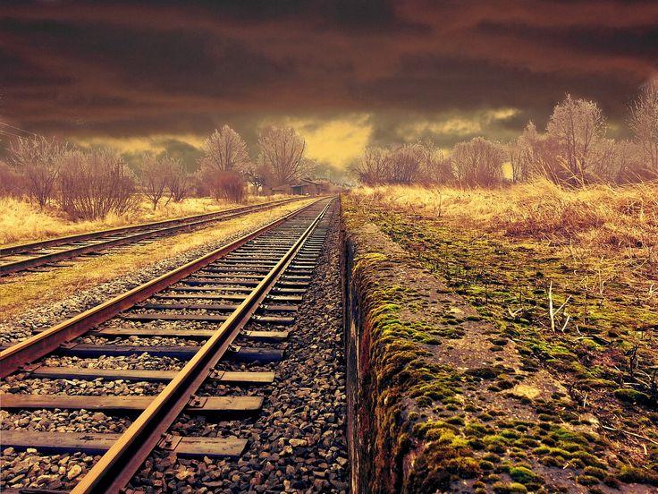 Ferrocarril, Paisaje, Transporte, Clima, Mal Humor