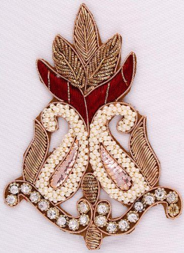 Buy Smart Design Embroidered Handmade Patch Made From Zardozi,resham,stone,bead online now.