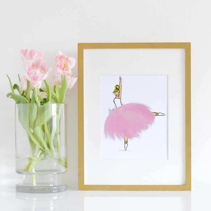 Little Ballerina Nursery Decor She brings glamour and fun to every little ballerinas room or nursery. She is an ideal new baby gift or birthday present for that special little someone. It will for sure liven up any wall! Description: -She is professionally printed with archival