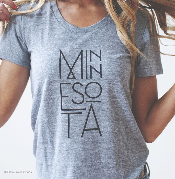 MN Type_Model_light_REV.jpg  Minnesota t-shirt, Minnesota tee, Minnesota Made Apparel