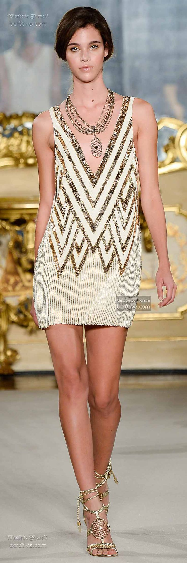 Dress The Best! Designer Dress Fashion Runway Style Elisabetta Franchi Spring 2015-16