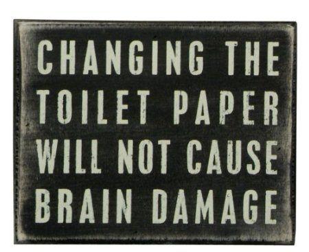 Amazon Com Primitives By Kathy Box Sign Toilet Paper Home Kitchen Decorative