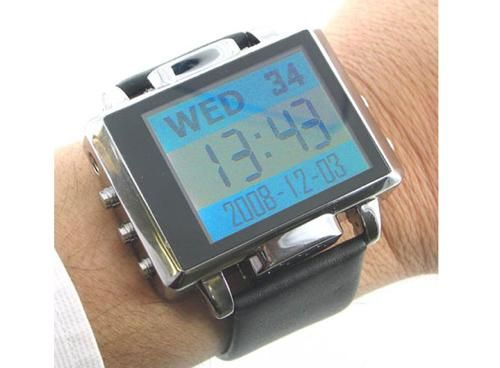 The video recording spy watch is real! | If you're one of those people that love a bit of snooping action at the weekends, then have we got the gadget for you. The Thanko MP4 Spy watch might look like a chunky wrist-piece, but it also shoots covert video too. Buying advice from the leading technology site