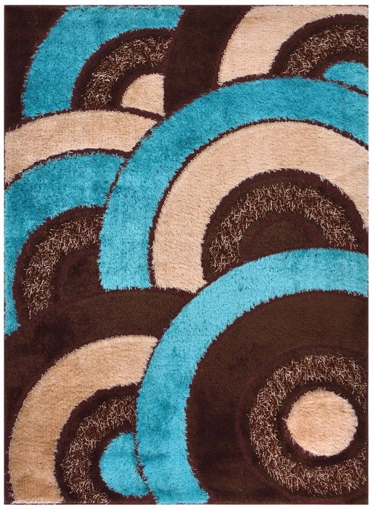 Details About Blue Shag Area Rugs Shaggy Rug Area Rug