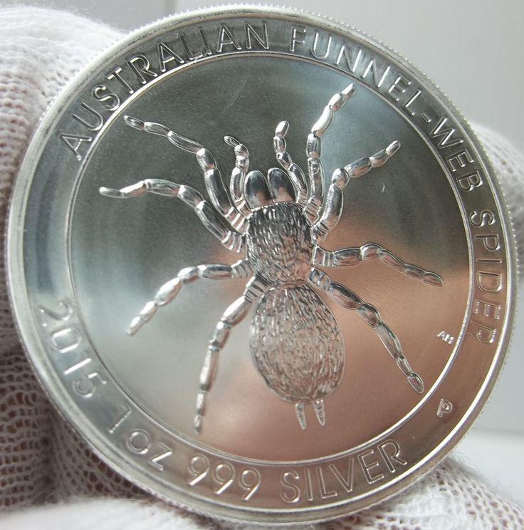 NRFS! 2015 Unc. Australia Spider 1 oz. 999 Silver 1 Dollar Collectable Coin!