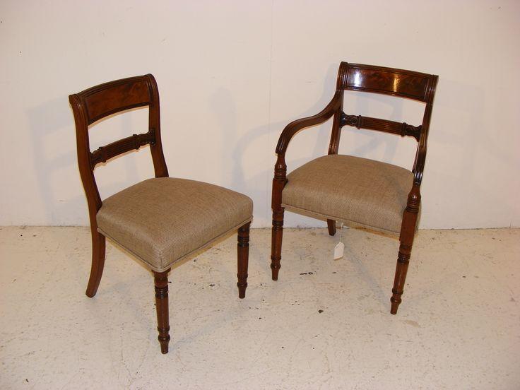 Set Of C19 Mahogany Chairs at Long Melford Antiques Centre
