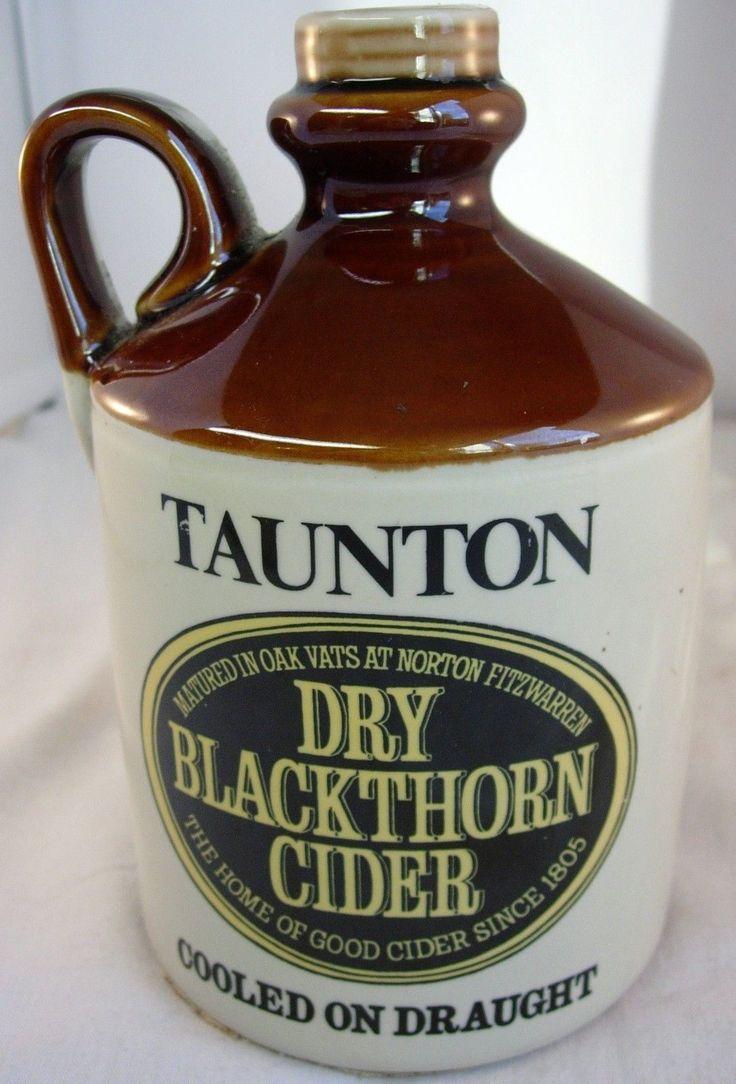 "Taunton Dry Blackthorn Cider Flagon. ""'Definitely a Dry Blackthorn day."""