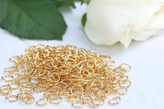 24K Gold Plated Jump Rings6mm Jump RingsConnectorSKU/Z13